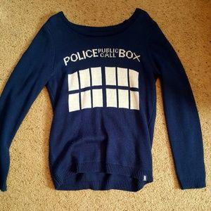 Doctor Who TARDIS Sweater